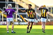 20 December 2020; Zach Bay Hammond of Kilkenny and Darragh Carley of Wexford following the Electric Ireland Leinster GAA Hurling Minor Championship Semi-Final match between Wexford and Kilkenny at Chadwicks Wexford Park in Wexford. Photo by Seb Daly/Sportsfile
