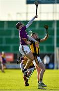 20 December 2020; Darragh Kehoe of Wexford in action against Gearóid Dunne of Kilkenny during the Electric Ireland Leinster GAA Hurling Minor Championship Semi-Final match between Wexford and Kilkenny at Chadwicks Wexford Park in Wexford. Photo by Seb Daly/Sportsfile