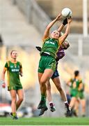 20 December 2020; Vikki Wall of Meath in action against Vicky Carr of Westmeath during the TG4 All-Ireland Intermediate Ladies Football Championship Final match between Meath and Westmeath at Croke Park in Dublin. Photo by Eóin Noonan/Sportsfile