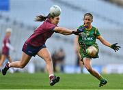 20 December 2020; Niamh O'Sullivan of Meath in action against Niamh Spellman of Westmeath during the TG4 All-Ireland Intermediate Ladies Football Championship Final match between Meath and Westmeath at Croke Park in Dublin. Photo by Eóin Noonan/Sportsfile