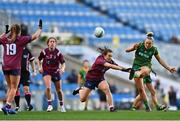 20 December 2020; Vikki Wall of Meath in action against Niamh Spellman of Westmeath during the TG4 All-Ireland Intermediate Ladies Football Championship Final match between Meath and Westmeath at Croke Park in Dublin. Photo by Eóin Noonan/Sportsfile