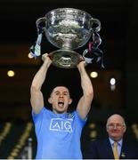 19 December 2020; David Byrne of Dublin lifts the Sam Maguire Cup following the GAA Football All-Ireland Senior Championship Final match between Dublin and Mayo at Croke Park in Dublin. Photo by Stephen McCarthy/Sportsfile