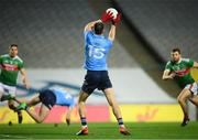 19 December 2020; Dean Rock of Dublin scores his side's first goal during the GAA Football All-Ireland Senior Championship Final match between Dublin and Mayo at Croke Park in Dublin. Photo by Stephen McCarthy/Sportsfile