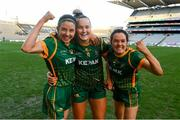 20 December 2020; Meath players, from left, Niamh O'Sullivan, Vikki Wall and Niamh Gallogly the TG4 All-Ireland Intermediate Ladies Football Championship Final match between Meath and Westmeath at Croke Park in Dublin. Photo by Brendan Moran/Sportsfile