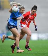 20 December 2020; Nicole Owens of Dublin in action against Shauna Kelly of Cork during the TG4 All-Ireland Senior Ladies Football Championship Final match between Cork and Dublin at Croke Park in Dublin. Photo by Piaras Ó Mídheach/Sportsfile
