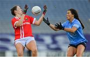 20 December 2020; Áine O'Sullivan of Cork in action against Leah Caffrey of Dublin during the TG4 All-Ireland Senior Ladies Football Championship Final match between Cork and Dublin at Croke Park in Dublin. Photo by Brendan Moran/Sportsfile