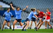 20 December 2020; Ciara O'Sullivan of Cork in action against Aoife Kane of Dublin during the TG4 All-Ireland Senior Ladies Football Championship Final match between Cork and Dublin at Croke Park in Dublin. Photo by Eóin Noonan/Sportsfile