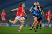 20 December 2020; Áine O'Sullivan of Cork in action against Carla Rowe of Dublin during the TG4 All-Ireland Senior Ladies Football Championship Final match between Cork and Dublin at Croke Park in Dublin. Photo by Brendan Moran/Sportsfile