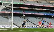 20 December 2020; Áine O'Sullivan of Cork shoots to score her side's first goal during the TG4 All-Ireland Senior Ladies Football Championship Final match between Cork and Dublin at Croke Park in Dublin. Photo by Eóin Noonan/Sportsfile