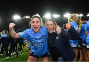 20 December 2020; Aoife Kane of Dublin, left, with her sister Laura Kane following the TG4 All-Ireland Senior Ladies Football Championship Final match between Cork and Dublin at Croke Park in Dublin. Photo by Eóin Noonan/Sportsfile