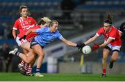 20 December 2020; Jennifer Dunne of Dublin and Hannah Looney of Cork contest possession during the TG4 All-Ireland Senior Ladies Football Championship Final match between Cork and Dublin at Croke Park in Dublin. Photo by Brendan Moran/Sportsfile