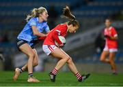 20 December 2020; Ashling Hutchings of Cork is tackled by Nicole Owens of Dublin during the TG4 All-Ireland Senior Ladies Football Championship Final match between Cork and Dublin at Croke Park in Dublin. Photo by Brendan Moran/Sportsfile