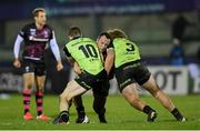 20 December 2020; Bryan Byrne of Bristol Bears is tackled by Jack Carty, left, and Finlay Bealham of Connacht during the Heineken Champions Cup Pool B Round 2 match between Connacht and Bristol Bears at the Sportsground in Galway. Photo by Ramsey Cardy/Sportsfile
