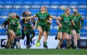 20 December 2020; Niamh Gallogly of Meath, 5, celebrates after the TG4 All-Ireland Intermediate Ladies Football Championship Final match between Meath and Westmeath at Croke Park in Dublin. Photo by Piaras Ó Mídheach/Sportsfile
