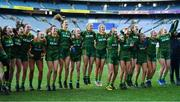 20 December 2020; Meath players celebrate after the TG4 All-Ireland Intermediate Ladies Football Championship Final match between Meath and Westmeath at Croke Park in Dublin. Photo by Brendan Moran/Sportsfile