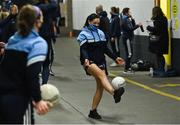 20 December 2020; Sinéad Goldrick of Dublin warms up under the Hogan Stand prior to the TG4 All-Ireland Senior Ladies Football Championship Final match between Cork and Dublin at Croke Park in Dublin. Photo by Piaras Ó Mídheach/Sportsfile