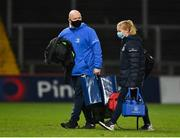 18 December 2020; Leinster academy kit man Jim Bastick and physiotherapist intern Kathryn Dane after the A Interprovincial Friendly match between Munster A and Leinster A at Thomond Park in Limerick. Photo by Brendan Moran/Sportsfile