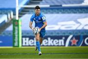 19 December 2020; Ross Byrne of Leinster during the Heineken Champions Cup Pool A Round 2 match between Leinster and Northampton Saints at the RDS Arena in Dublin. Photo by David Fitzgerald/Sportsfile
