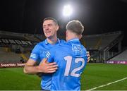 19 December 2020; Brian Fenton, left, and Seán Bugler of Dublin celebrate following their sides victory in the the GAA Football All-Ireland Senior Championship Final match between Dublin and Mayo at Croke Park in Dublin. Photo by Sam Barnes/Sportsfile
