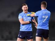 19 December 2020; Philip McMahon, left, and Robert McDaid of Dublin celebrate following their sides victory in the the GAA Football All-Ireland Senior Championship Final match between Dublin and Mayo at Croke Park in Dublin. Photo by Sam Barnes/Sportsfile