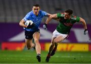 19 December 2020; Brian Fenton of Dublin in action against Matthew Ruane of Mayo during the GAA Football All-Ireland Senior Championship Final match between Dublin and Mayo at Croke Park in Dublin. Photo by Sam Barnes/Sportsfile