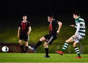 21 December 2020; Collie Conroy of Bohemians in action against John Ryan of Shamrock Rovers during the SSE Airtricity U17 National League Final match between Shamrock Rovers and Bohemians at the UCD Bowl in Dublin. Photo by Sam Barnes/Sportsfile