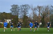 22 December 2020; Leinster players, from left, Jack Conan, Josh Murphy, Greg McGrath, Sean O'Brien, Sean Cronin and Alex Soroka during Leinster Rugby squad training at UCD in Dublin. Photo by Ramsey Cardy/Sportsfile