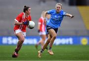 20 December 2020; Shauna Kelly of Cork in action against Nicole Owens of Dublin during the TG4 All-Ireland Senior Ladies Football Championship Final match between Cork and Dublin at Croke Park in Dublin. Photo by Piaras Ó Mídheach/Sportsfile