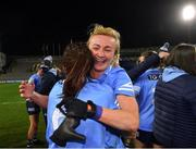 20 December 2020; Dublin players Carla Rowe, behind, and Siobhán McGrath celebrate after the TG4 All-Ireland Senior Ladies Football Championship Final match between Cork and Dublin at Croke Park in Dublin. Photo by Piaras Ó Mídheach/Sportsfile