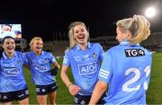 20 December 2020; Nicole Owens of Dublin, 15, celebrates with team-mates from left, Lyndsey Davey, Carla Rowe, and Caoimhe O'Connor after the TG4 All-Ireland Senior Ladies Football Championship Final match between Cork and Dublin at Croke Park in Dublin. Photo by Piaras Ó Mídheach/Sportsfile