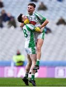 25 January 2020; Rory Murphy, left, and Dara Devine of Na Gaeil celebrate at the final whistle of the AIB GAA Football All-Ireland Junior Club Championship Final match between Na Gaeil and Rathgarogue-Cushinstown at Croke Park in Dublin. Photo by Ben McShane/Sportsfile
