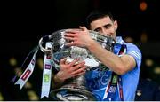 19 December 2020; Niall Scully of Dublin with the Sam Maguire Cup following the GAA Football All-Ireland Senior Championship Final match between Dublin and Mayo at Croke Park in Dublin. Photo by Stephen McCarthy/Sportsfile