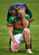 27 September 2020; Noel McGrath of Loughmore-Castleiney is comforted by team manager Frankie McGrath after the Tipperary County Senior Football Championship Final match between Clonmel Commercials and Loughmore-Castleiney at Semple Stadium in Thurles, Tipperary. Photo by Ray McManus/Sportsfile