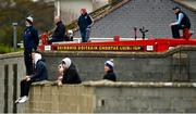 18 October 2020; Supporters watch the match from a fire truck stationed in Rathkeale fire station during the Allianz Football League Division 4 Round 6 match between Limerick and Wexford at Mick Neville Park in Rathkeale, Limerick. Due to ongoing restrictions imposed by the Irish Government to contain the spread of the Coronavirus (Covid-19) pandemic, elite sport is still permitted to take place behind closed doors. Photo by Eóin Noonan/Sportsfile