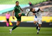 6 September 2020; Adam Idah of Republic of Ireland in action against Leo Väisänen of Finland during the UEFA Nations League B match between Republic of Ireland and Finland at the Aviva Stadium in Dublin. Photo by Stephen McCarthy/Sportsfile