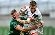 23 August 2020; Stuart McCloskey of Ulster is tackled by Peter Sullivan of Connacht during the Guinness PRO14 Round 14 match between Connacht and Ulster at the Aviva Stadium in Dublin. Due to ongoing restrictions imposed by the Irish Government to contain the spread of the Coronavirus (Covid-19) pandemic, elite sport is still permitted to take place behind closed doors. Photo by Ramsey Cardy/Sportsfile