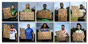 21 June 2020; (EDITOR'S NOTE: Image has been edited to make a composite). To The New Generation is a series of portraits of Black athletes in Ireland, representing their communities and families, and in some instances Ireland, in a variety of sports, including athletics, basketball, GAA, rugby and soccer. Their stories reflect a contemporary and multicultural Ireland and Ireland's place in the world, moving more and more from an emigrant nation to an immigrant nation offering hope and a life to many people from beyond our shores. Photo by Ramsey Cardy/Sportsfile