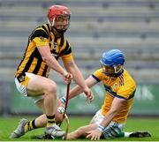 16 August 2020; Mark Fanning of Glynn-Barntown saves a goal bound effort by Joe Kelly of Shelmaliers during the Wexford County Senior Hurling Championship Semi-Final match between Glynn-Barntown and Shelmaliers at Chadwicks Wexford Park in Wexford. Photo by Eóin Noonan/Sportsfile