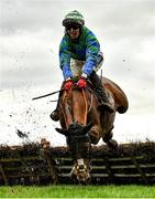 8 November 2020; Ronald Pump, with Keith Donoghue up, falls at the last during the Lismullen Hurdle at Navan Racecourse in Meath. Photo by Seb Daly/Sportsfile