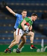 19 December 2020; Matthew Ruane of Mayo in action against Brian Fenton of Dublin during the GAA Football All-Ireland Senior Championship Final match between Dublin and Mayo at Croke Park in Dublin. Photo by Piaras Ó Mídheach/Sportsfile