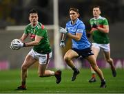 19 December 2020; Stephen Coen of Mayo in action against Michael Fitzsimons of Dublin during the GAA Football All-Ireland Senior Championship Final match between Dublin and Mayo at Croke Park in Dublin. Photo by Piaras Ó Mídheach/Sportsfile