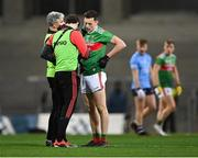 19 December 2020; Diarmuid O'Connor of Mayo is treated by medics during the GAA Football All-Ireland Senior Championship Final match between Dublin and Mayo at Croke Park in Dublin. Photo by Piaras Ó Mídheach/Sportsfile