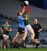 19 December 2020; Jonny Cooper of Dublin in action against Ryan O'Donoghue of Mayo during the GAA Football All-Ireland Senior Championship Final match between Dublin and Mayo at Croke Park in Dublin. Photo by Piaras Ó Mídheach/Sportsfile