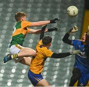 22 December 2020; Cian McMahon of Kerry scores his side's second goal during the Electric Ireland Munster GAA Football Minor Championship Final match between Kerry and Clare at LIT Gaelic Grounds in Limerick. Photo by Eóin Noonan/Sportsfile