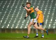 22 December 2020; Cian McMahon of Kerry celebrates after scoring his side's second goal during the Electric Ireland Munster GAA Football Minor Championship Final match between Kerry and Clare at LIT Gaelic Grounds in Limerick. Photo by Eóin Noonan/Sportsfile