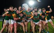 22 December 2020; Kerry players celebrate following the Electric Ireland Munster GAA Football Minor Championship Final match between Kerry and Clare at LIT Gaelic Grounds in Limerick. Photo by Eóin Noonan/Sportsfile