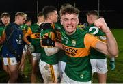 22 December 2020; William Shine of Kerry celebrates following the Electric Ireland Munster GAA Football Minor Championship Final match between Kerry and Clare at LIT Gaelic Grounds in Limerick. Photo by Eóin Noonan/Sportsfile