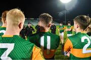 22 December 2020; Kerry manager James Costello speaks to his players following the Electric Ireland Munster GAA Football Minor Championship Final match between Kerry and Clare at LIT Gaelic Grounds in Limerick. Photo by Eóin Noonan/Sportsfile