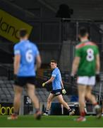 19 December 2020; Robert McDaid of Dublin leaves the field after he was shown the black card late in the first half during the GAA Football All-Ireland Senior Championship Final match between Dublin and Mayo at Croke Park in Dublin. Photo by Piaras Ó Mídheach/Sportsfile