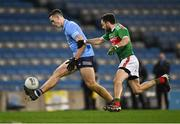 19 December 2020; Brian Fenton of Dublin in action against Kevin McLoughlin of Mayo during the GAA Football All-Ireland Senior Championship Final match between Dublin and Mayo at Croke Park in Dublin. Photo by Piaras Ó Mídheach/Sportsfile